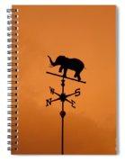 Elephant Weathervane Sunset Spiral Notebook