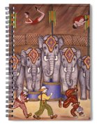 Elephants And Acrobats Spiral Notebook