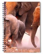 Elephants Stampede Spiral Notebook
