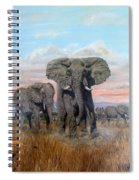 Elephants Warning To The Lions Spiral Notebook