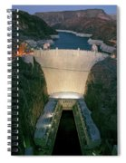 Elevated View At Dusk Of Hoover Dam Spiral Notebook