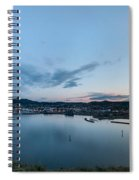 Elevated View Of A Harbor At Sunset Spiral Notebook