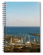 Elevated View Of Boats At A Harbor Spiral Notebook