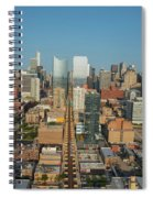 Elevated View Of Cityscape, Lake Street Spiral Notebook