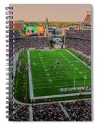 Elevated View Of Gillette Stadium, Home Spiral Notebook