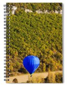 Elevated View Of Hot Air Balloon Spiral Notebook