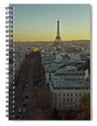 Elevated View Of Paris From Arc De Spiral Notebook