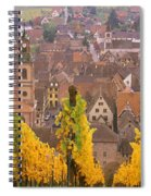 Elevated View Of The Riquewihr Spiral Notebook