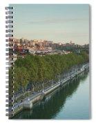 Elevated View Of The Zubizuri Bridge Spiral Notebook