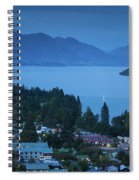 Elevated View Of Town At Dawn Spiral Notebook