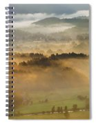 Elevated View Of Trees On Hill Spiral Notebook