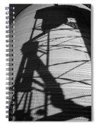 Elevator Shadow Spiral Notebook
