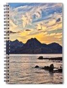 Elgol Beach At Sunset Spiral Notebook