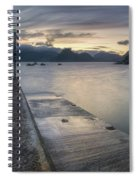 Elgol Pier And Boats With Cuillin Spiral Notebook