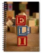 Eli - Alphabet Blocks Spiral Notebook