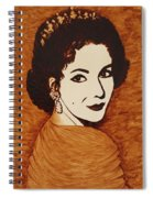 Elizabeth Taylor Original Coffee Painting On Paper Spiral Notebook