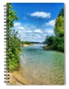 Elk River- Elk Rapids Michigan Spiral Notebook