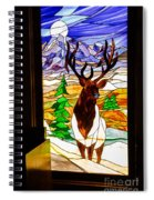 Elk Stained Glass Window Spiral Notebook