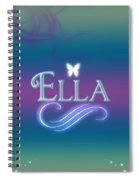 Ella Name Art Spiral Notebook