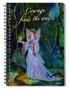 Ella Rose-courage Lights The Way Spiral Notebook