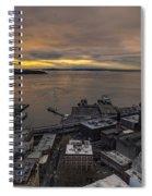 Elliott Bay Seattle Evening Spiral Notebook