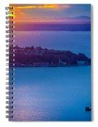 Elliott Bay Sunset Spiral Notebook