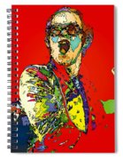 Elton In Red Spiral Notebook