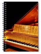 Elvis' Gold Piano Spiral Notebook
