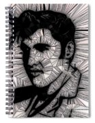 Elvis In Black And White  Spiral Notebook