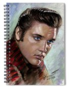 Elvis King Of Rock And Roll Spiral Notebook