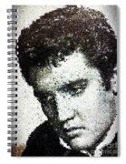 Elvis Love Me Tender Mosaic Spiral Notebook