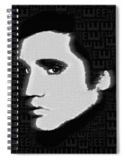 Elvis Presley Silhouette On Black Spiral Notebook