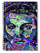 Elvis The King Abstract Spiral Notebook