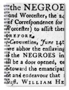 Emancipation Notice, 1775 Spiral Notebook