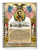 Emancipation Proclamation Tribute 1888 Spiral Notebook