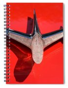 Emblem On Red Spiral Notebook