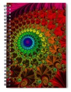 Embroidered Silk And Beads - Horizontal Spiral Notebook