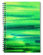 Emerald Flow Abstract I Spiral Notebook
