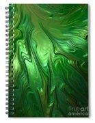 Emerald Flow Spiral Notebook