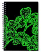 Emerald Isle Shamrocks  Spiral Notebook