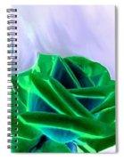 Emerald Rose Watercolor Spiral Notebook