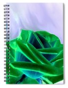Emerald Rose Watercolor Spiral Notebook