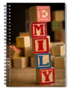 Emily - Alphabet Blocks Spiral Notebook