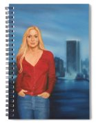 Emily  Miami Skyline Spiral Notebook