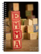 Emma - Alphabet Blocks Spiral Notebook