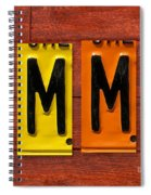 Emma License Plate Name Sign Fun Kid Room Decor Spiral Notebook