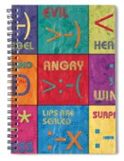 Emoticons Patch Spiral Notebook