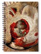 Emotional Upheaval II Squared Spiral Notebook