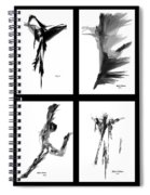 Emotions In Black - Abstract Quad Spiral Notebook