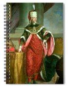 Emperor Francis I 1708-65 Holy Roman Emperor, Wearing The Official Robes Of The Order Of St. Stephan Spiral Notebook